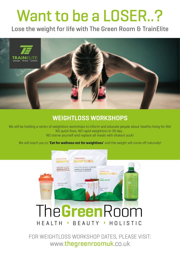 A4 Green Room Weight Loss Poster