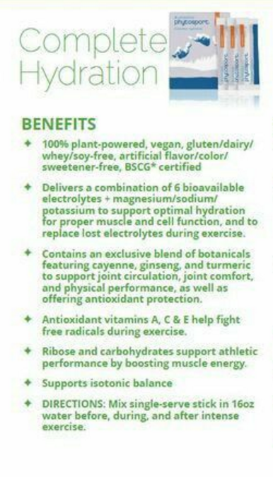 phytosport from arbonne