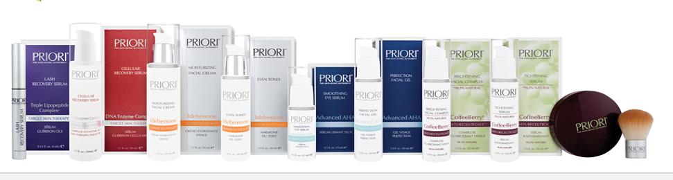 Priori Anti-Ageing skincare Range